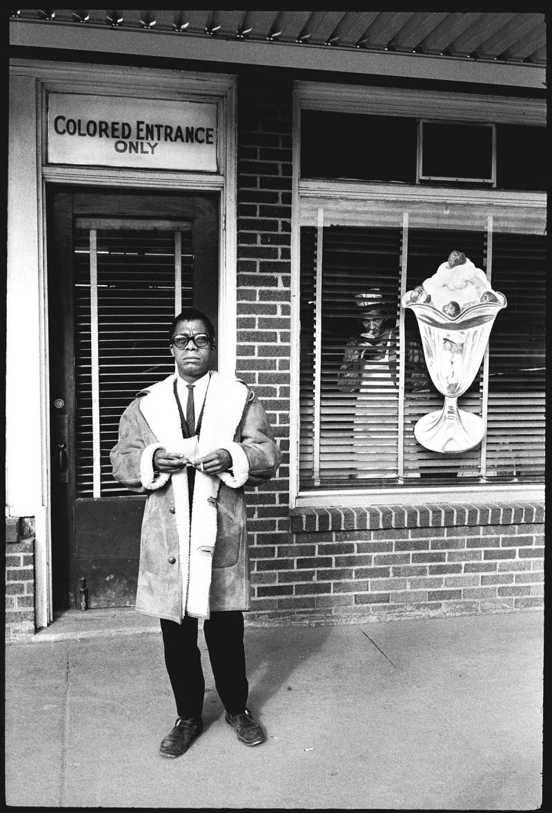 "James Baldwin, ""Colored Entrance Only"", 1963 Gelatin Silver print"