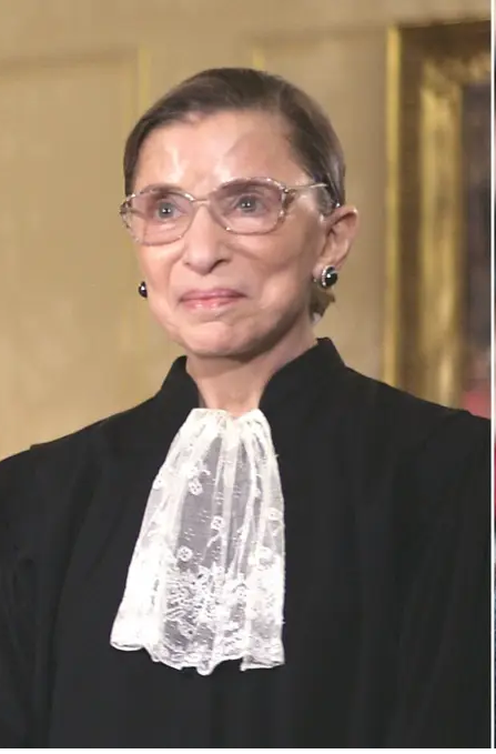 U.S. Associate Justice Ruth Bader Ginsburg poses for an official picture with other justices at the U.S. Supreme Court in Washington, D.C., October 31, 2005 Archival Pigment Print
