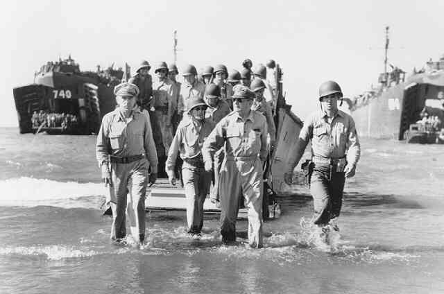 General Douglas MacArthur Landing at Luzon (Time Inc.) Gelatin Silver print