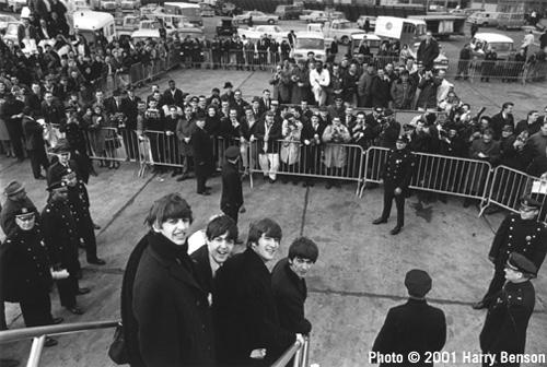 The Beatles Arriving in New York, February 7, 1964 Gelatin Silver print
