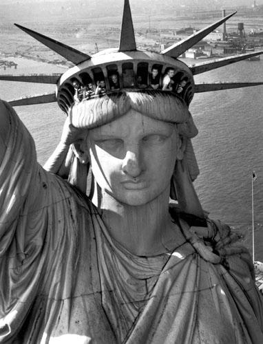Statue of Liberty, New York Harbor, 1952<br/>