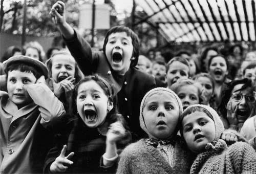 Children at a Puppet Theatre, Paris, 1963 by Alfred Eisenstaedt Gelatin Silver print