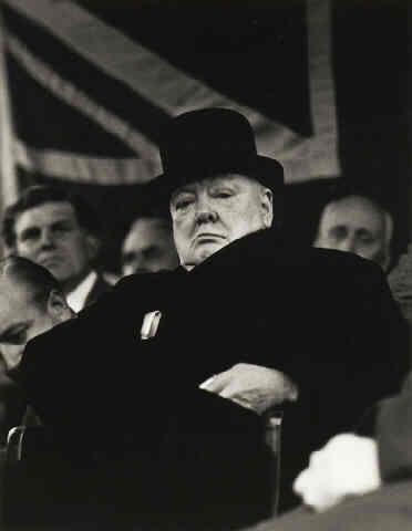 Prime Minister Winston Churchill at Biggleswade, England, 1955 (Life Magazine/Time Warner Inc.) Gelatin Silver print