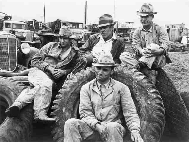 Roustabouts in Freer, Texas, take time off from their job, 1937 (Life Magazine/Time Warner Inc.) Gelatin Silver print