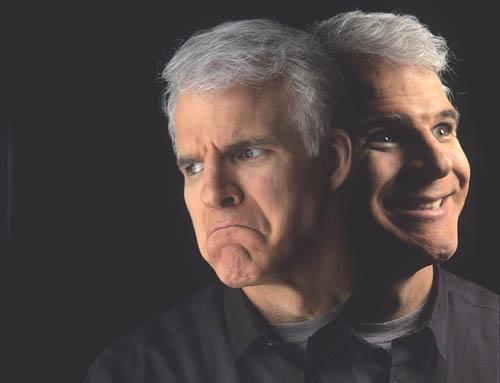 Two faces of Steve Martin Cibachrome print