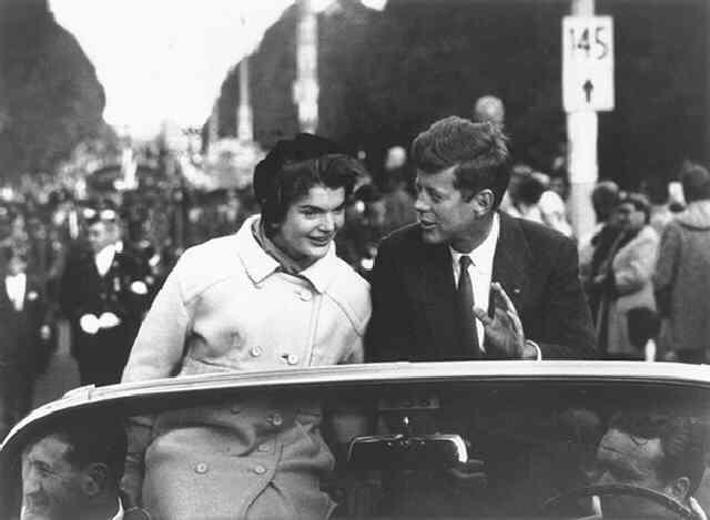 Senator John F. Kennedy Campaigning with his Wife in Boston (Time, Inc.) Gelatin Silver print