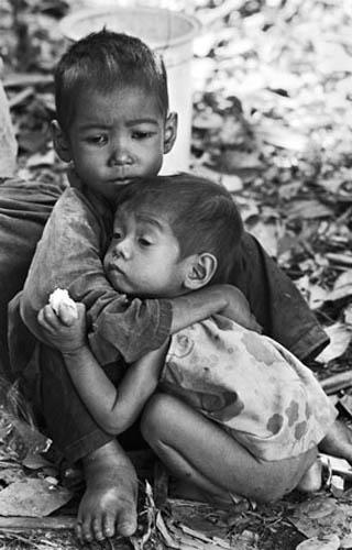 Brother and Sister, Cambodia, 1979 Archival Epson Print