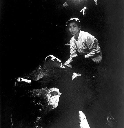Busboy Juan Romero tries to comfort Presidential candidate Bobby Kennedy after assassination attempt, June 5, 1968<br/>