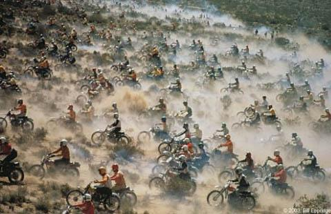 Motorcycle race, Mojave desert Archival Pigment Print