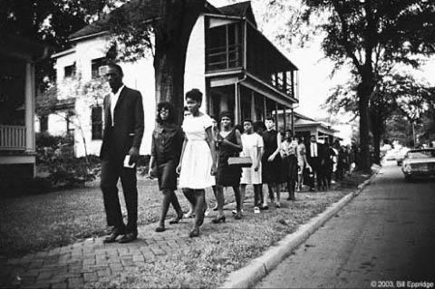 Mississippi Burning: Funeral procession of James Chaney, Mississippi, 1964 Gelatin Silver print