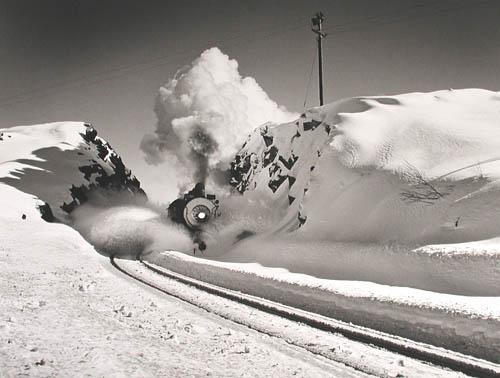 Southern Pacific Engine, Donner Pass, California 1949<br/>