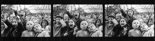 Enlarged negative strip of Children at a puppet theater, Paris, 1964 Gelatin Silver print