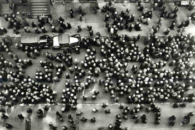 Hats in the Garment District, New York, 1930 Gelatin Silver print