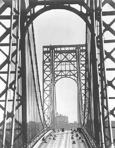 George Washington Bridge, New York (?Time Inc.) Gelatin Silver print