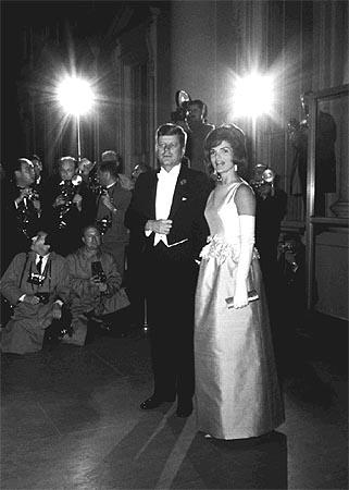 President John F. Kennedy and Jacqueline, 1963 Gelatin Silver print