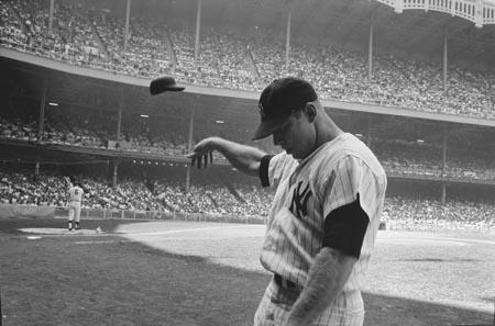 Mickey Mantle Having A Bad Day At Yankee Stadium, New York, 1965<br/>