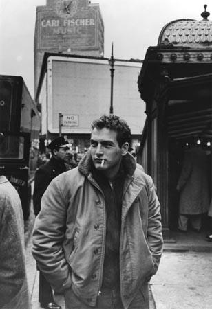 "Paul Newman during the making of ""Somebody Up There Likes Me,"" 1956<br/>"