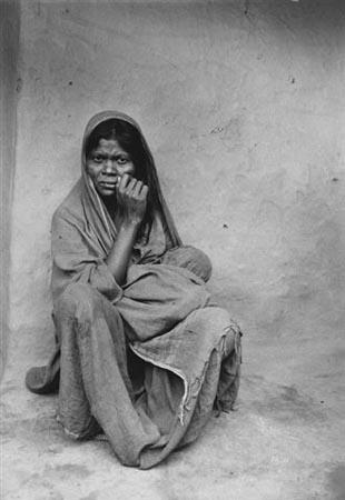 Woman  in India,1978 Vintage Gelatin Silver Print