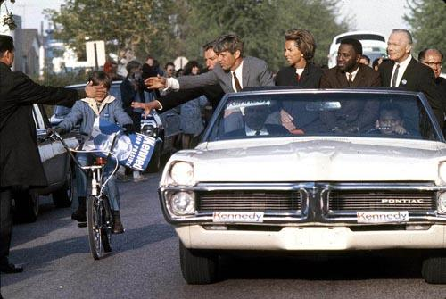 Bobby Kennedy in campaign convertible, 1968 Archival Pigment Print