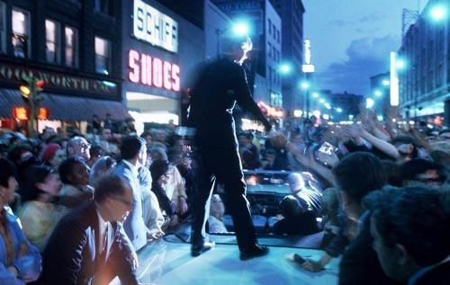 Bobby Kennedy campaigns  into the night, 1968 Archival Pigment Print