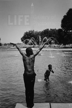 The Poor People's Campaign encouraged 2,600 people to the Mall in Washington DC to live for almost 6wks (5/14-6/24 1968) in shantytowns named Resurrection City, by Leonard McComb Gelatin Silver print