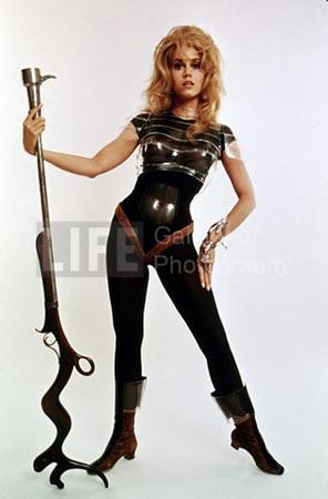 "Actress Jane Fonda in publicity still for ""Barbarella,"" 1968 Chromogenic print"