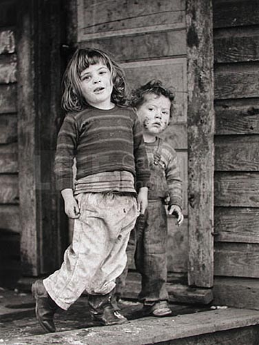Two Children in Coal Mining Town in Hellier, Kentucky, 1964