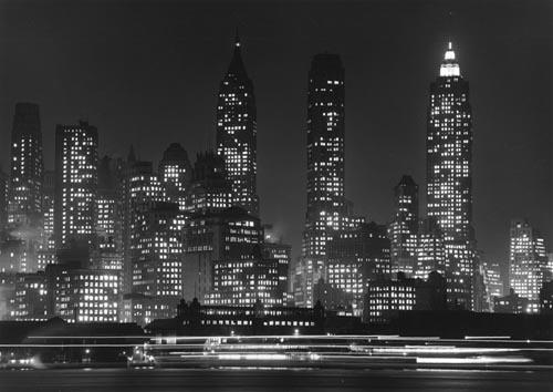 New York at night, c. 1940s Gelatin Silver print