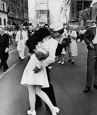 V-J Day in Times Square, New York, August 14, 1945 (? Time Inc)