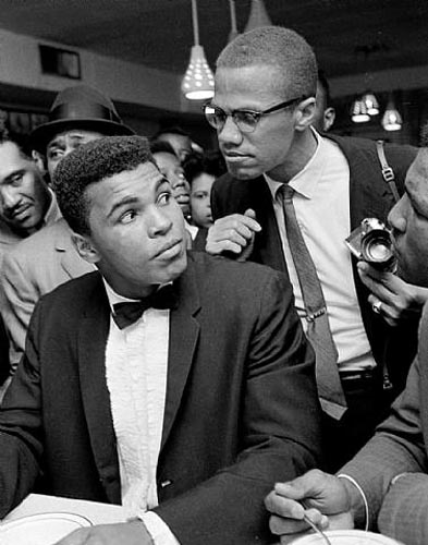 Cassius Clay and Malcolm X, Miami, 1964