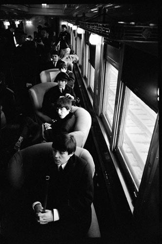 The Beatles wait to arrive, Union Station, D.C. Feb 10, 1964. Copyright Bill Eppridge