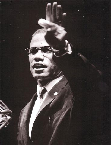 Malcolm X Addressing Black Muslim Rally in Chicago, 1963