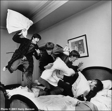 Beatles Pillow Fight, Hotel George V, Paris, 1964