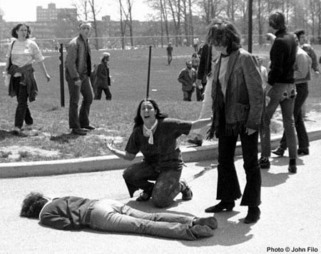 Mary Vecchio grieving over stain student, Kent State, May 4, 1970