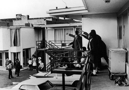 Dr. Martin Luther King assassination, Memphis,Tenn., April 4, 1968; Photograph by Joseph Louw
