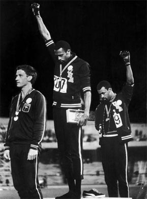 1968 Olympics Black Power salute, by John Dominis ?Time Inc