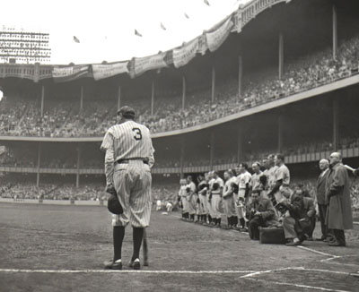 The Babe Blows Out, Yankee Stadium, June 13, 1948<br>© 2004 Nat Fein Estate