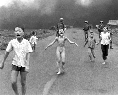 Villagers Fleeing a Napalm Strike, Village of Trang Bang, Vietnam, June 8, 1972<br>© 2004 The Associated Press