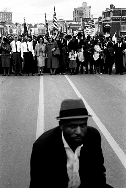 Entering Montgomery, Selma March, 1965