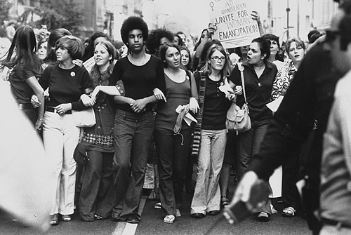 Women in Parade Down 5th Avenue on the 50th Anniversary of the Passage of the 19th Amendment, New York, 1970 -Photograph by John Olsen