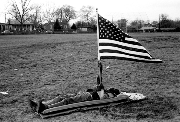 Boy with Flag, Selma March, 1965