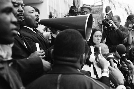 Martin Luther King, Jr., (Megaphone), Selma, Alabama, 1965